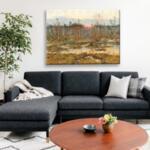 Юлий Клевер - Зимен пейзаж с бреза №11443-Copy