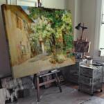 Мари Егнер - Изглед към вътрешния двор на Dreilaufergasse No. 8  №11475