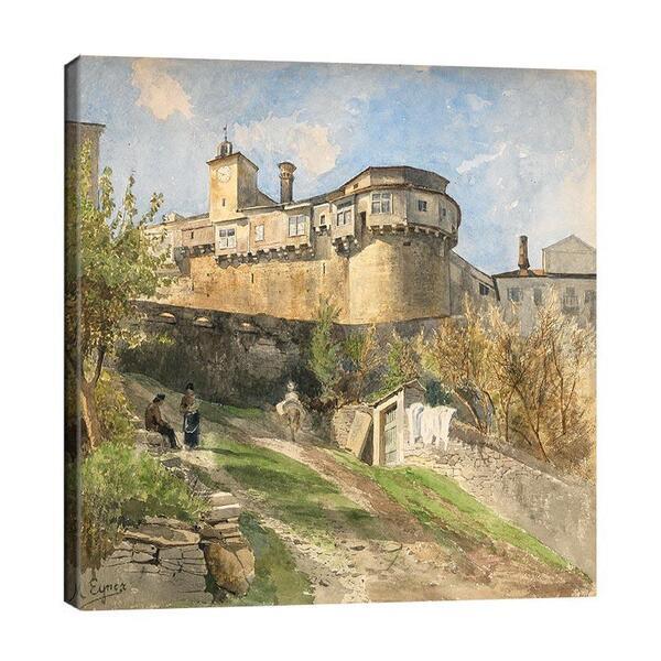 Мари Егнер - Градска стена в Италия  №11492