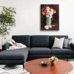 Деметър Коко - Есенни цветя в зелена ваза №11523