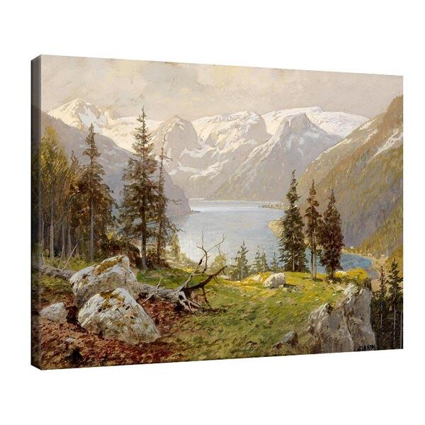 Георг Джани - Планинско езеро с борове №11530