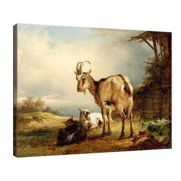 Фридрих Гауерман - Коза с две козленца №11551