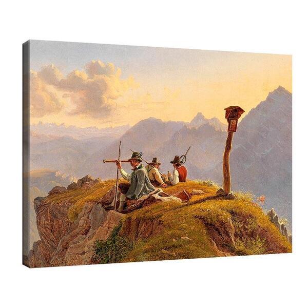 Фридрих Гауерман - Ловци, почиващи на върха №11554
