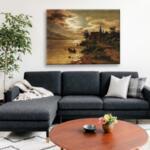 Фриц Хвала - Езерен пейзаж на лунна светлина №11606