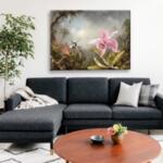 Мартин Хийд - Орхидея с две колибрита №11620