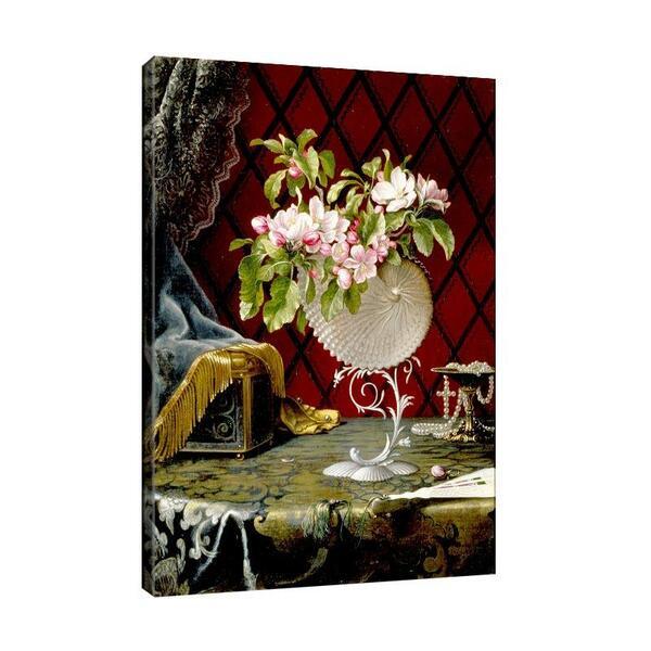Мартин Хийд - Натюрморт с ябълкови цветове в черупка Nautilus №11625