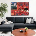 Анри Матис - Червената стая (Хармония в червено) №11634