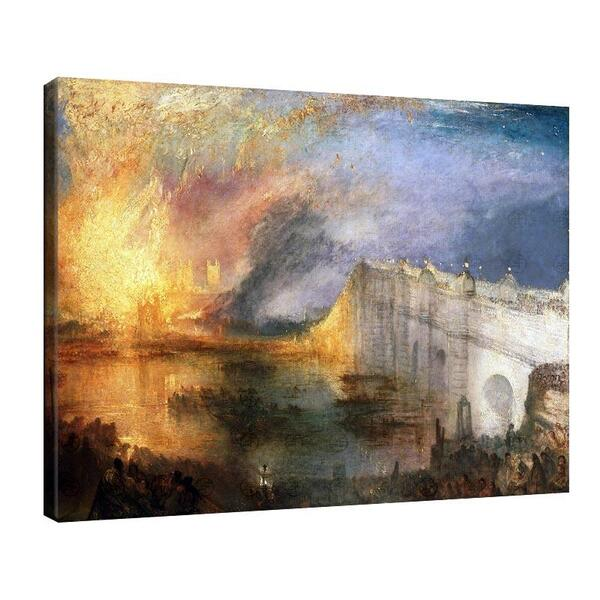 Джоузеф Търнър - Пожар в лондонския парламент на 16 октомври 1834г №11649