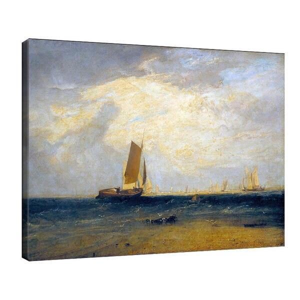Джоузеф Търнър - Риболов във залива при прилив №11651