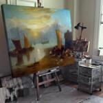 Джоузеф Търнър -Светлината на изгряващото слънце, развиваща се мъгла №11653