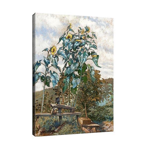 Уго Шарлемон - Пейзаж със слънчогледи №11691