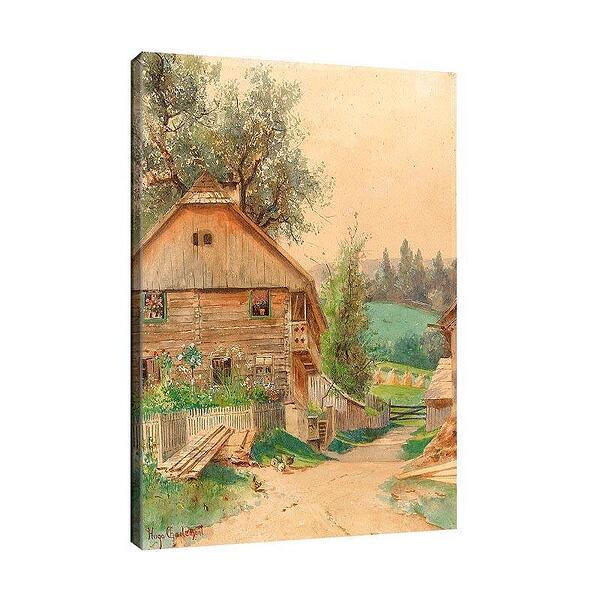 Уго Шарлемон - Селски мотив с къща и градина №11693