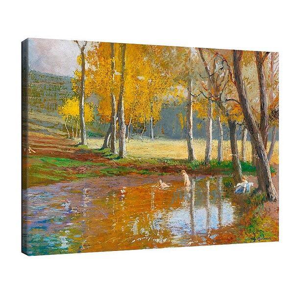 Уго Шарлемон - Къпещи се в горско езерце №11697