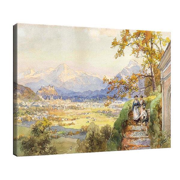 Едуард Комптън - Залцбург от равнината Мария №11713