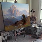 Едуард Комптън - Изглед към планината Сасолунго №11716