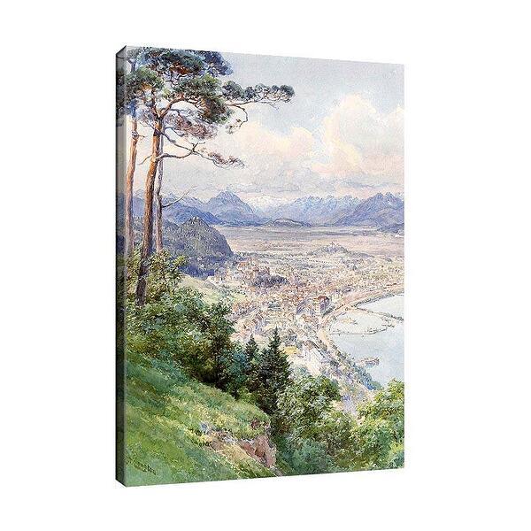 Едуард Комптън - Изглед към Брегенц и езерото Бодензее №11730