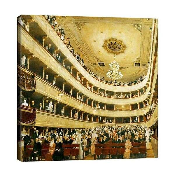 Густав Климт - Зала на стария дворцов театър във Виена №7354