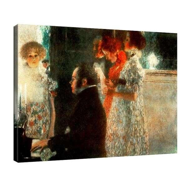 Густав Климт - Шуберт зад пианото №7432