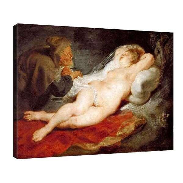 Петер Паул Рубенс - Отшелника и спящая Анжелика - 1626 - 1628 №7856