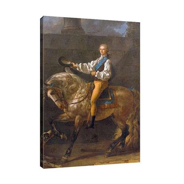 Жак-Луи Давид - Конен портрет на Станислав Костка Потоцки №7860