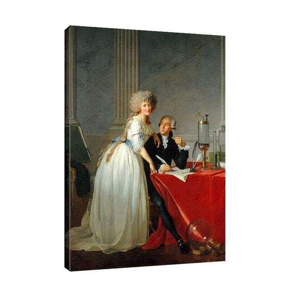 Жак-Луи Давид - Портрет на химика Антоан Лавоазие и съпругата му №7876