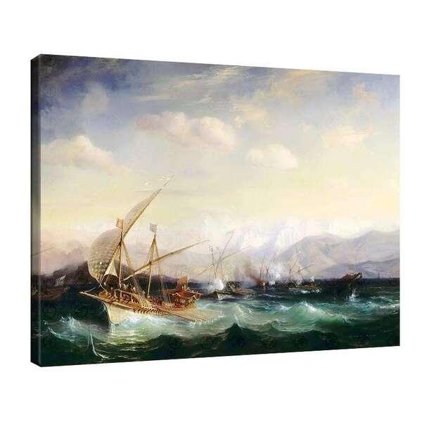 Теодор Гудин - Адмирал Андреа Дора разпръсва испанския флот край Вар на 7 юли 1524 година №7935