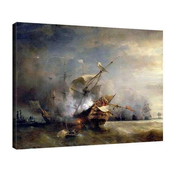 Теодор Гудин - Военноморска битка край Корнуол на 21 октомври 1707 г. №7938