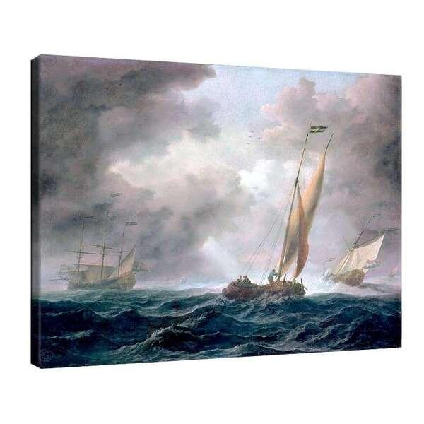 Вилем ван де Велде Стари - Холандски кораби в буря №7941