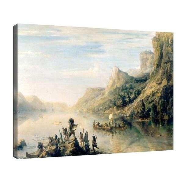 Теодор Гудин - Пътешествието на Жак Картие по река Сейнт Лорънс в Канада през 1535г №7949