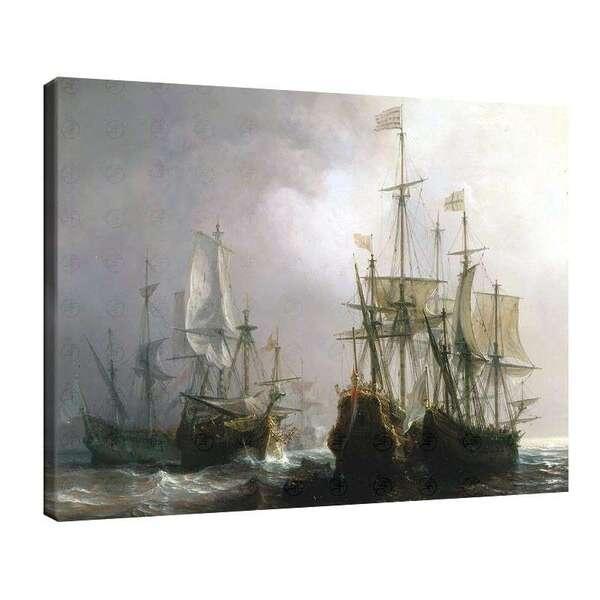 Теодор Гудин - Улавянето на три холандски, търговски кораба с френски кораби през 1711г №7953