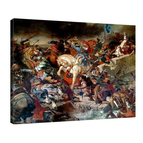 Йожен Дьолакроа - Битката при Тайбур 21 юли 1242 година №7958