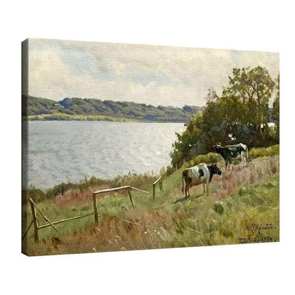 Педер Морк Мьонстед - Пейзаж с крави №7961
