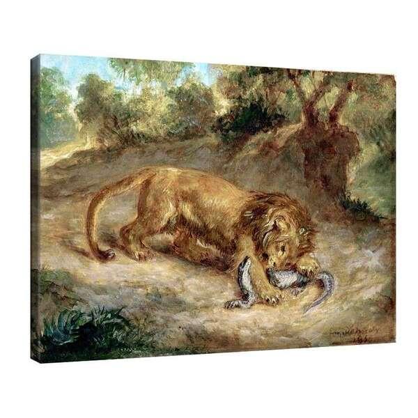 Йожен Дьолакроа - Лъв и крокодил №7969