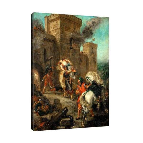 Йожен Дьолакроа - Темплиер отвлича Ребека при нападението на замъка Фрон де Боуф №7972