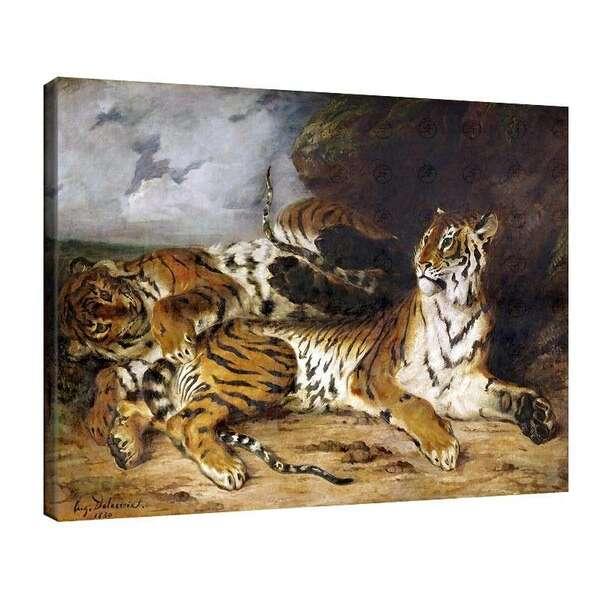Йожен Дьолакроа - Млад тигър играе с майка си №7974