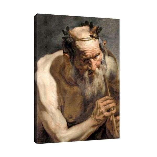 Якоб Йорданс - Сатир с флейта №7975