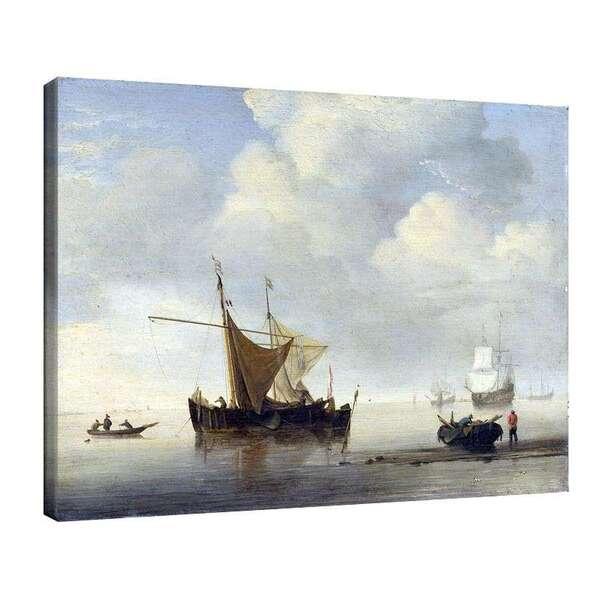 Вилем ван де Велде Стари - Два холандски съда в почивка №7995