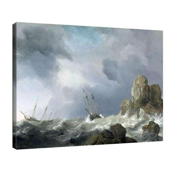 Вилем ван де Велде Стари - Кораби в буря №8004