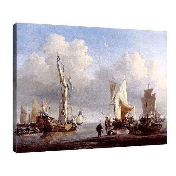Вилем ван де Велде Стари - Кораби до брега №8012