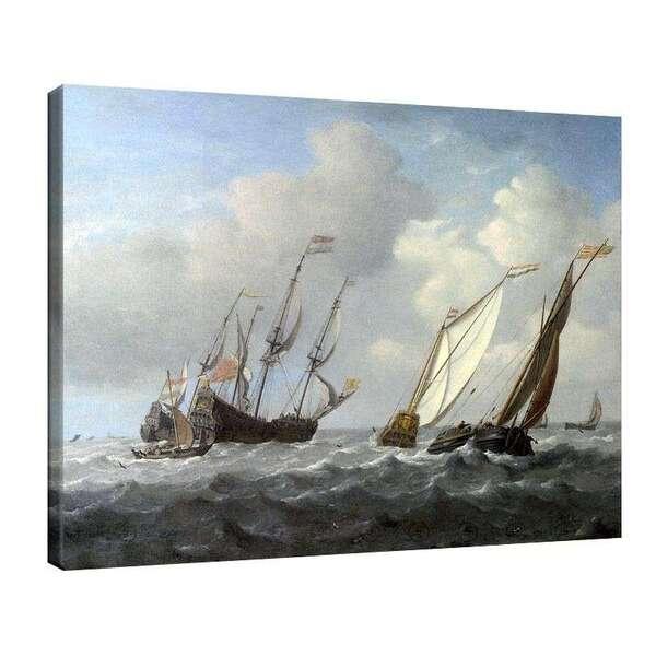 Вилем ван де Велде Стари - Кораби и яхти в бриз №8017