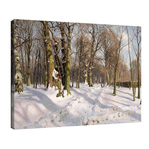 Педер Морк Мьонстед - Заснежен горски път на слънчева светлина (1908 г.) №8021