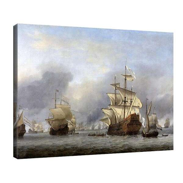 Вилем ван де Велде Стари - Превземане на английския адмиралски кораб №8027