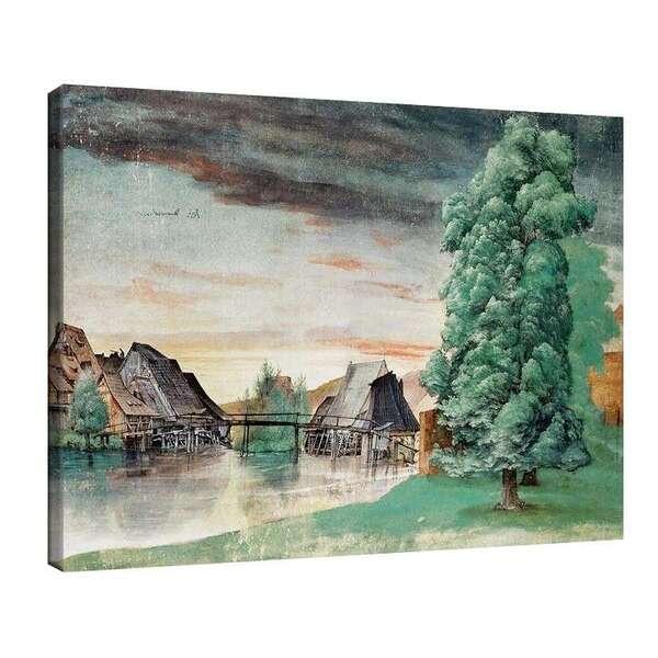 Албрехт Дюрер - Воденици на река Пегниц сред върби №8058