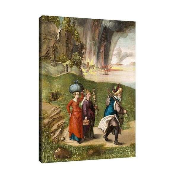 Албрехт Дюрер - Бягството на Лот с дъщерите си от Содом №8082