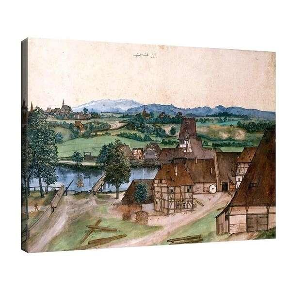Албрехт Дюрер - Рисуване на пейзаж №8098