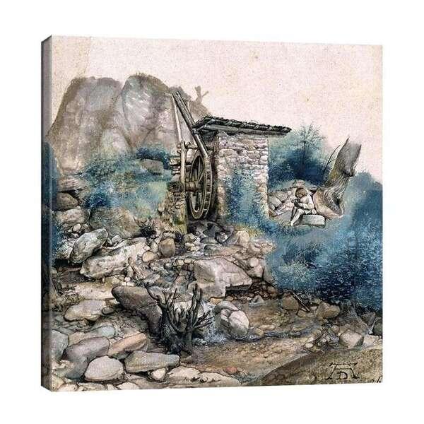Албрехт Дюрер - Воденица в планината и чертожник №8102