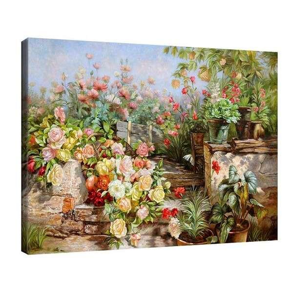 Олга Уизингър - Флориан - Селски двор с цветя №8114