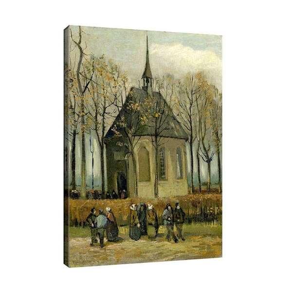 Винсент ван Гог - Богомолци напускат църквата в Нюнен №8131