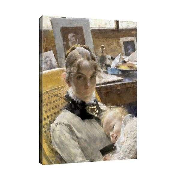 Карл Улов Ларсон - Идилия в студиото. Жената на художника №8161