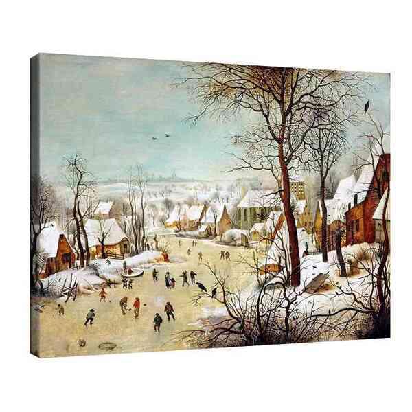 Питер Брьогел Старши - Зимен пейзаж с капан за птици №8162